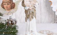 Statueta din ceramica cu Fecioara Maria cu Pruncul