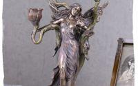 Sfesnic art nouveau din ceramica cu bronz cu trei