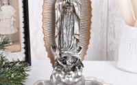 Statueta din ceramica cu bronz cu Fecioara Maria
