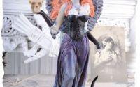 Sfesnic art nouveau din ceramica cu o femeie