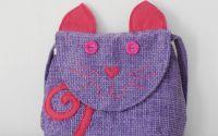 Poseta Miauu pink violet