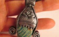 Amuleta Africana cu Amazonit de Rusia