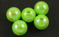 50buc margele acril AB rotunde YellowGreen 8mm