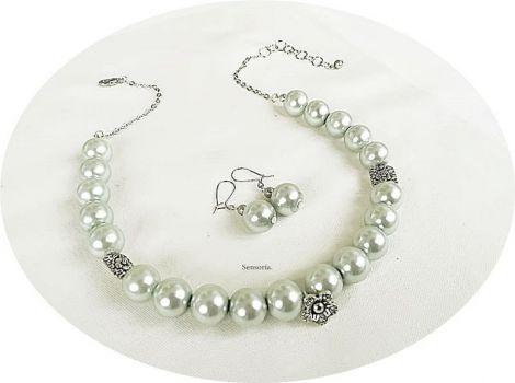 set perle mari argintiu light