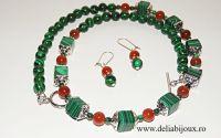 Set de bijuterii - malachit si agate