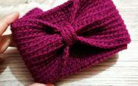 Bentita stil turban Cherry