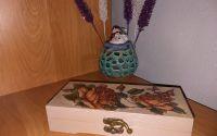 Cutiu bijuterii din lemn natur