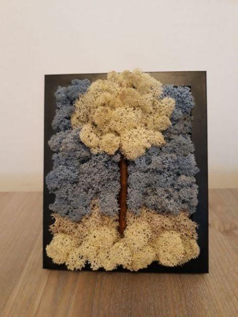 Tablou cu licheni -Copacul inflorit