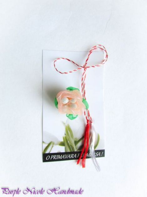 Bobocei - martisor floare handmade