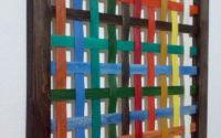 Tablou colorat din lemn masiv
