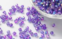 100buc margele acril AB bicon DarkOrchid 6x6mm