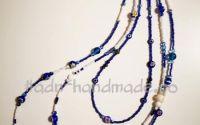 Colier handmade albastru