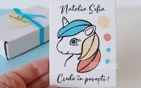 Marturii magnetice botez pictate manual unicorn