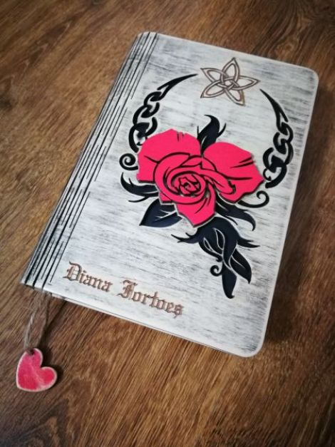 Agenda jurnal coperta din lemn - custom made
