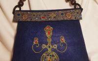 Geanta decorata cu pictura manuala