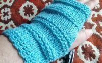 Manusi fara degete tricotate