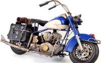 Model de motocicleta albastra