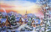 1522 Servetel peisaj de iarna 2