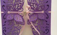 Invitatie nunta elegant fluturi 2d