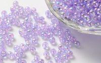 600buc Margele acril transparente sfera Lilac 3mm