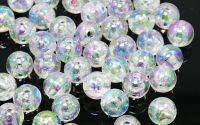 600buc Margele acril transparente sfera Clear 3mm