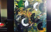 """Tablou canvas handmade """" Abstract Circle """""""