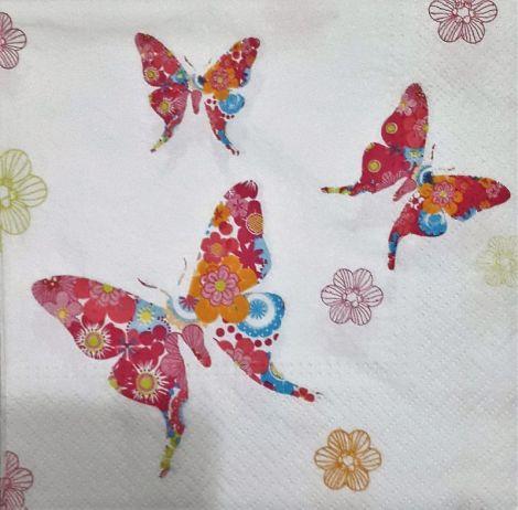 1550 Servetel fluturi roz