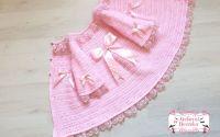 Palton crosetat pentru fetite
