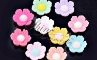 Cabochon floare rasina 13x13x4.5mm