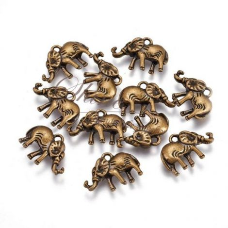 Charm elefant bronz 14x20x4mm