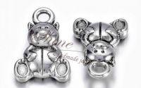 Charm ursulet argintiu antichizat