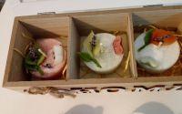 seturi de 3 lumanari in cutie lemn cu capac sticla