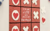 Magnet joc X i 0 personalizat nume text iubire
