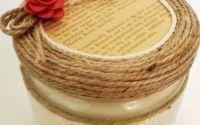 Lumanare decorativa din soia cu parfum fructat