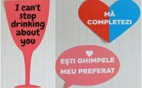 set pancarte recuzita foto props VALENTINES DAY