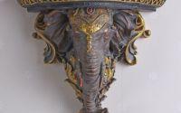 Consola de perete cu cap de elefant