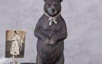 Statueta din rasini cu urs cu coarne