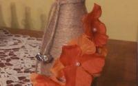 sticla cu flori