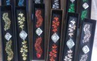 Bratara brodata cu ceas vintage