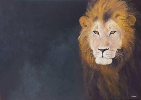 """""""Regele Leu"""" pictura originala pe panza"""