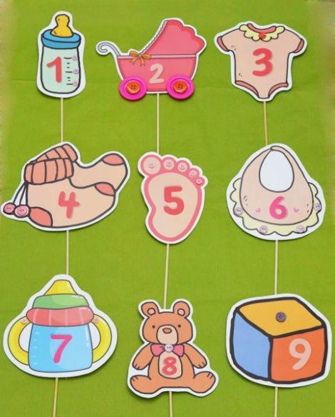 numere de masa botez elemente bebe cu nasturi