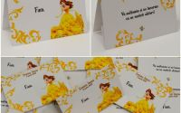 Place card - plic dar botez tema printesa Belle