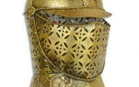 Coif medieval decorativ din alama masiva