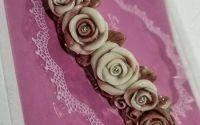 Accesoriu Par Floral Roz