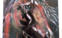 tablou pictat pe lemn de fag