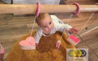 Baby Gym din lemn masiv