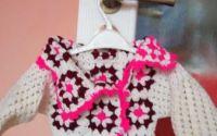 pulover copii 6-8 luni crosetat