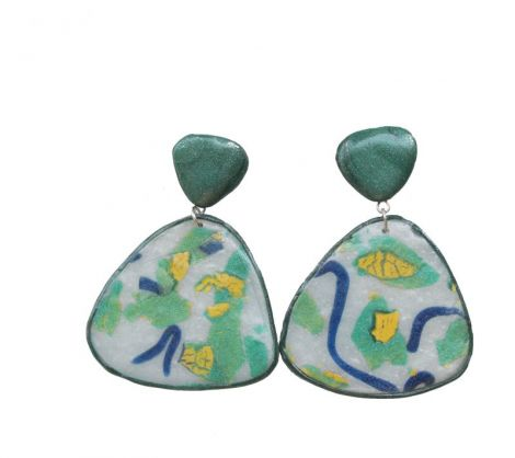 Polymer Clay Drop Earrings Abstract Pattern1