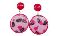 Polymer Clay Drop Earrings Abstract Pattern2