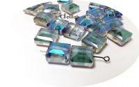 Cristale fatetate electroplacate bleu CR018